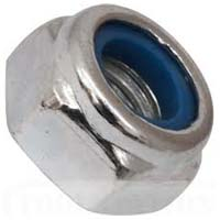 Zinc Plated Steel Nuts with Nylon